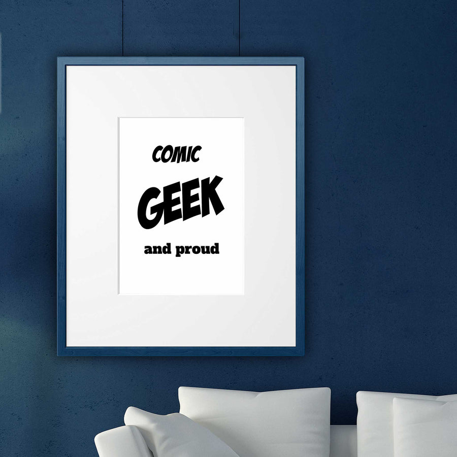 Comic wall art prints