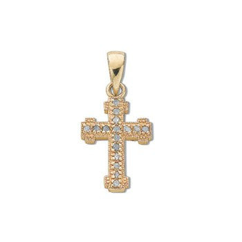 9ct Yellow Gold 0.06ct Diamond Cross