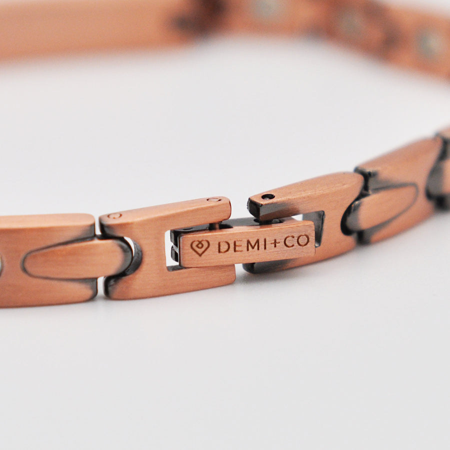 Harmony copper bracelet with diamante