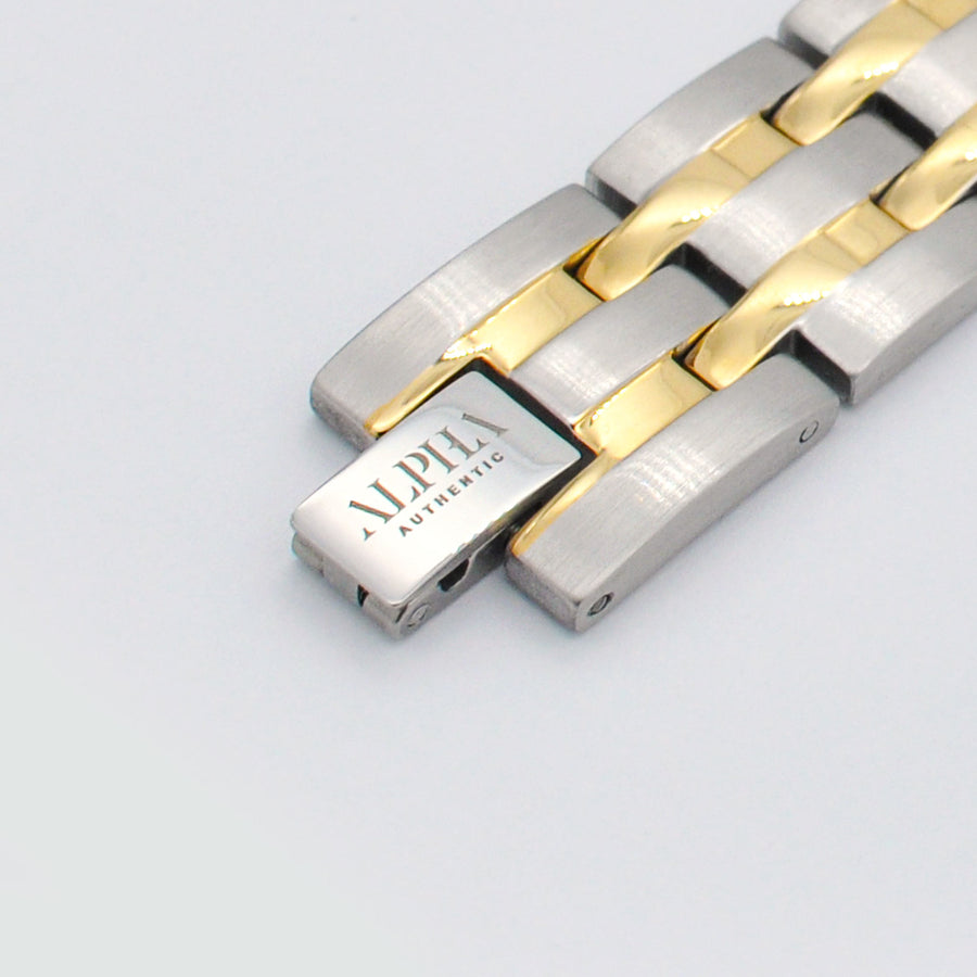 Ramon silver and gold magnetic bracelet