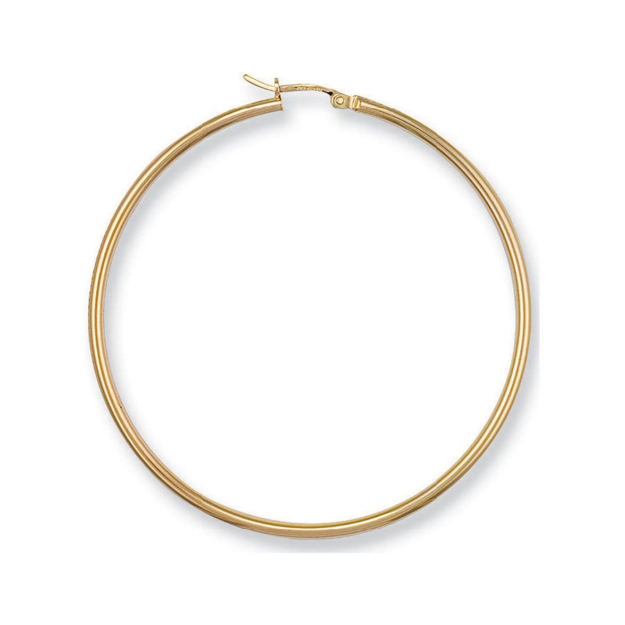 Y/G Round Tube Hoop Earrings