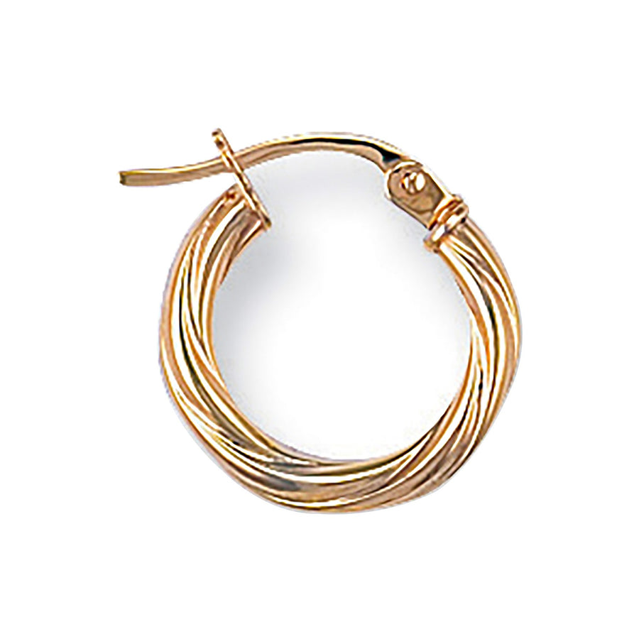 Y/G Twisted Hoop Earrings