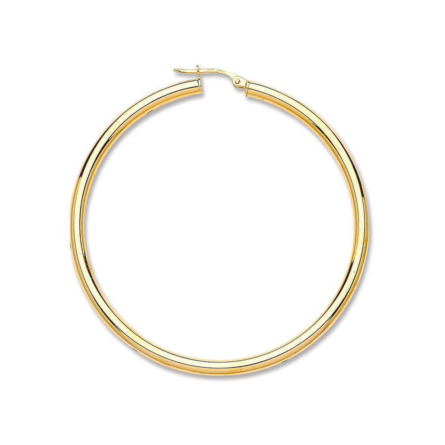 Y/G Plain Tube Hoop Earrings
