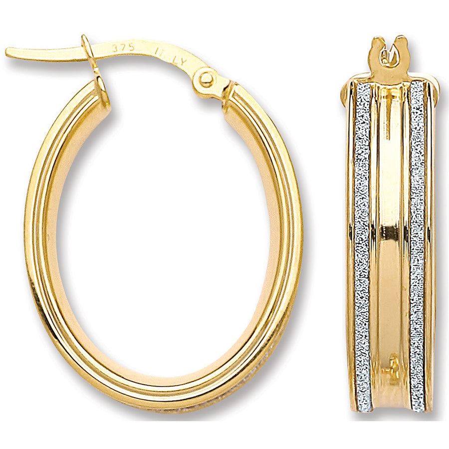 Y/G Moondust Edge Hoop Earrings