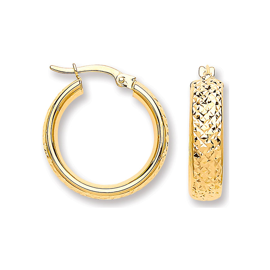 Y/G Tyre Tread Design D Shape Earrings