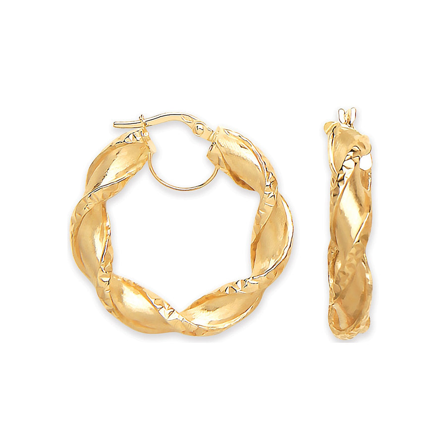 YG Twisted Hollow Hoop Earrings