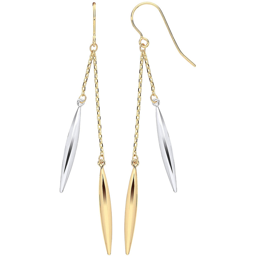 Y & WG Icicle Shaped Hollow Drop Earrings
