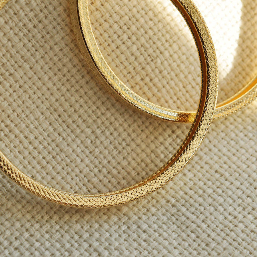 Tina large gold effect hoops