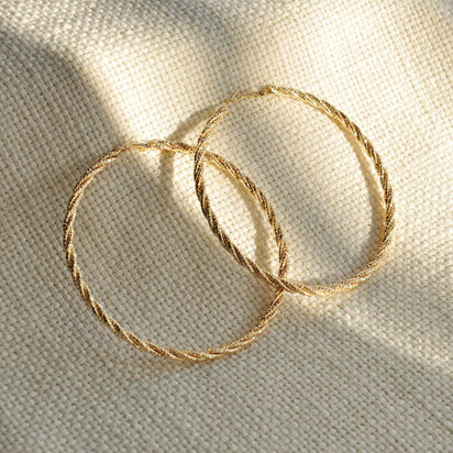 Demi gold hoop earrings