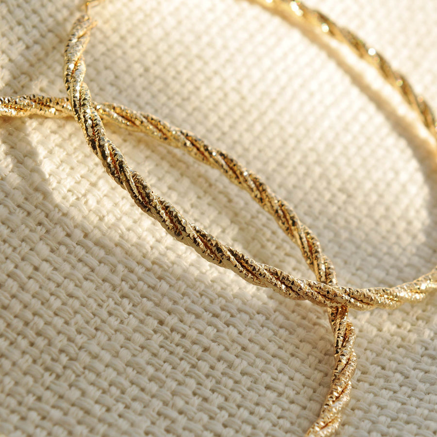 Demi gold effect rope hoops