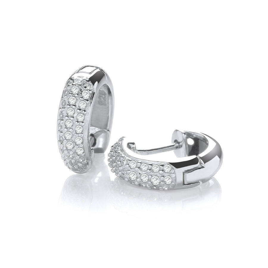 Micro Pave' Small Hoop with Cz