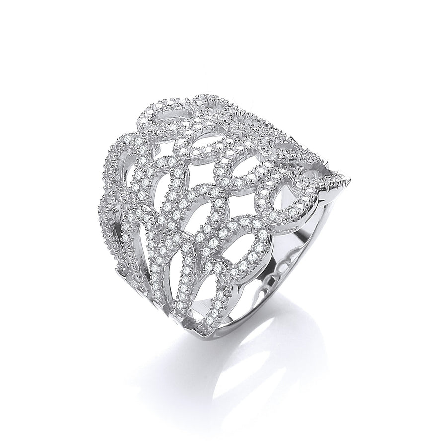 Micro Pave' Cz Fancy Ring
