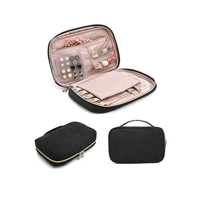 travel jewellery case black