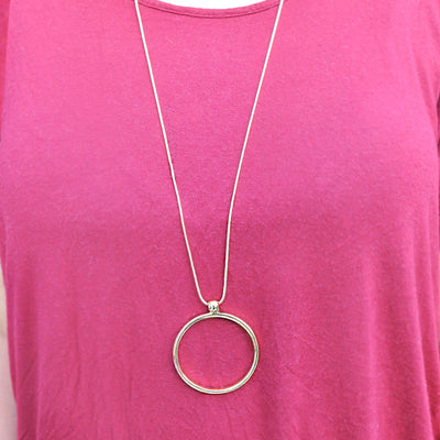 Julia Gold Circle Necklace