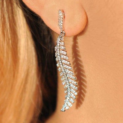 Lara leaf earrings