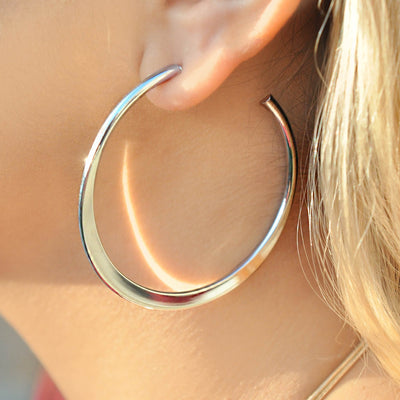 Lucia silver effect hoop earrings