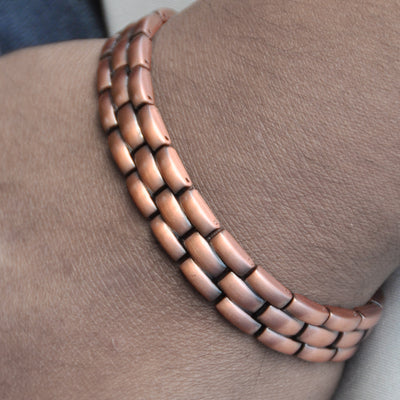 Mens copper link bangles UK