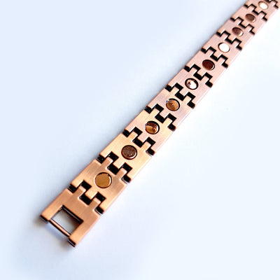 Stark Magnetic Link Copper Bracelet | ALPHA™ mens