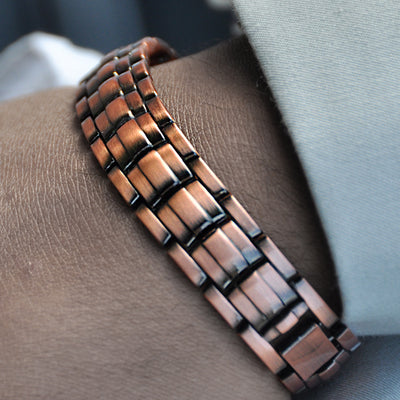 mens copper link bracelet UK