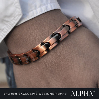 magnetic copper link bracelet