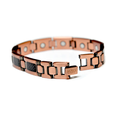 Carbon Magnetic Copper Bracelet | ALPHA™ mens