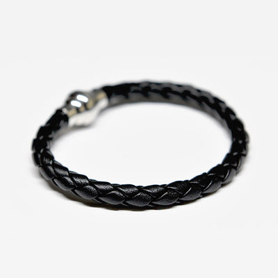 Designer leather bracelet ALPHA mens