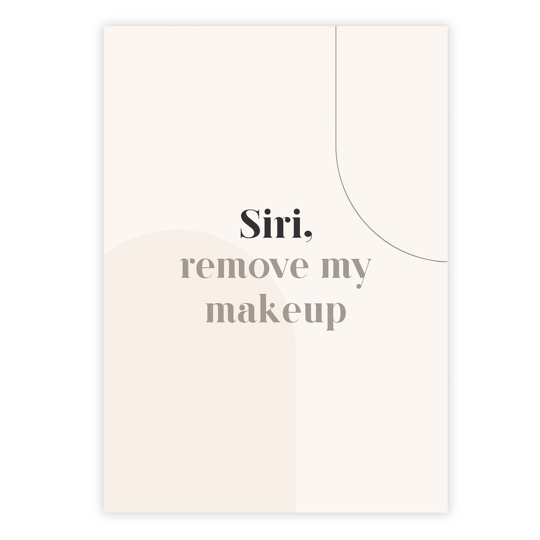 Siri remove my makeup