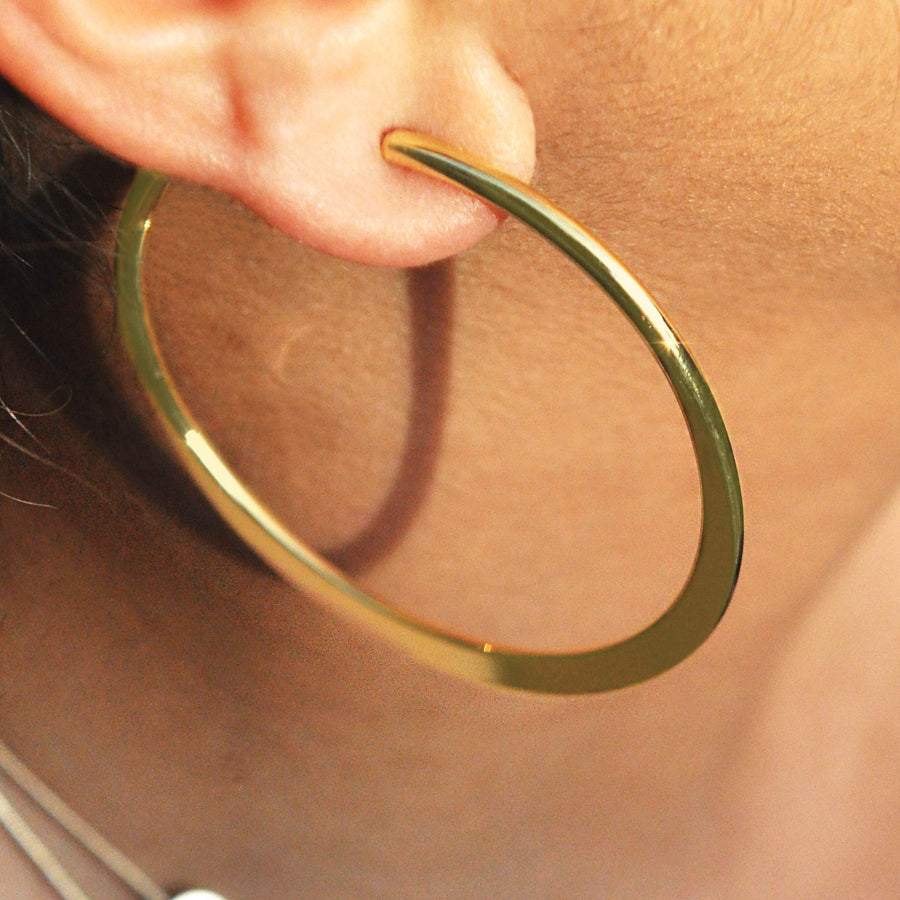 Maria gold effect hoop earrings