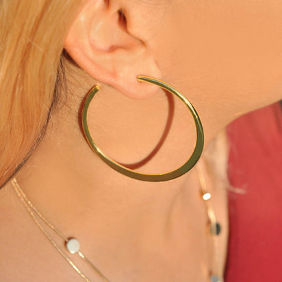 Maria Gold Hoops Earrings