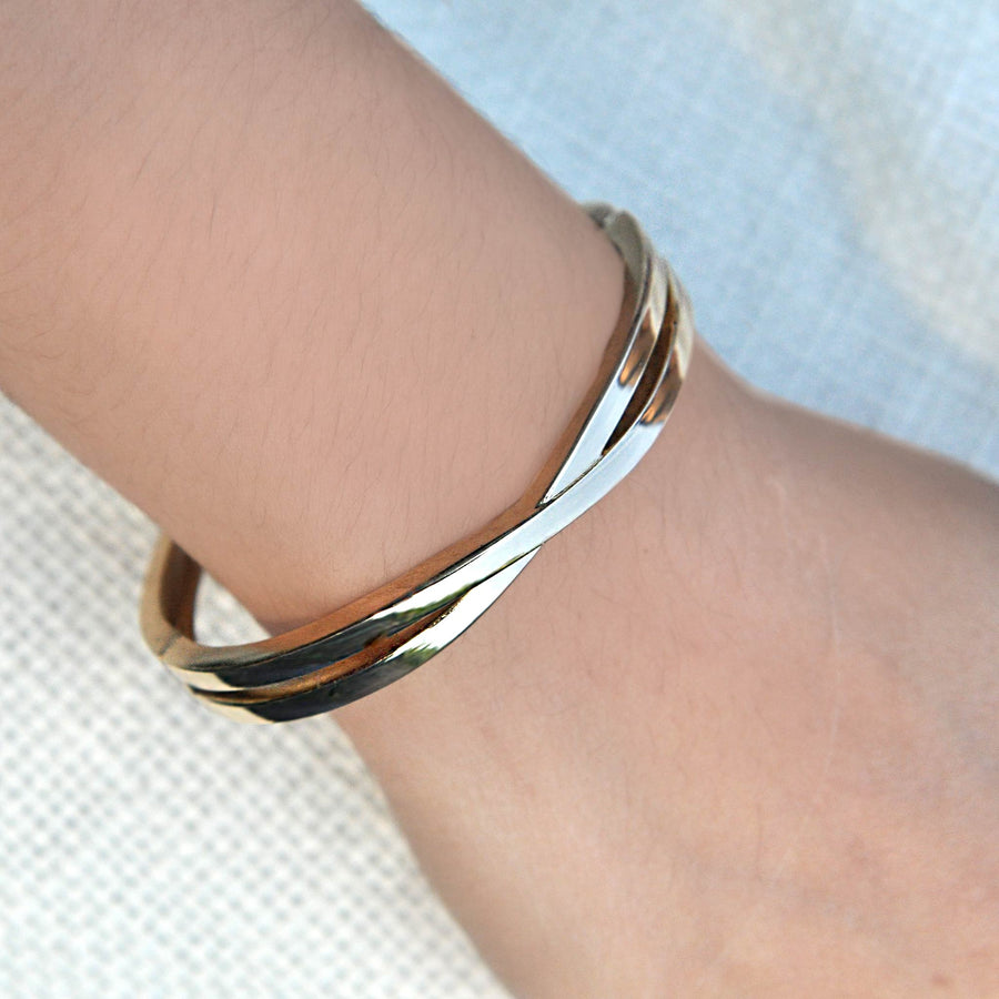 Martina Gold Bangle Cuff
