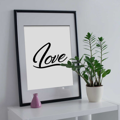 Love word wall art poster print