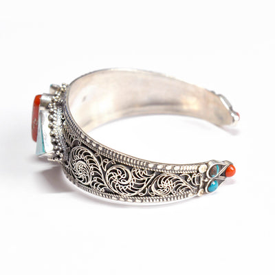 Old Indian tribal silver bangle