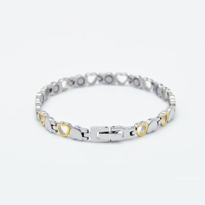ladies heart magnetic bracelet