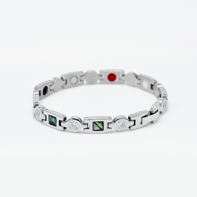 womens silver magnetic bangle