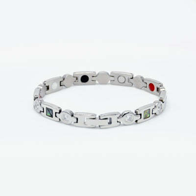 womens silver magnetic diamonds