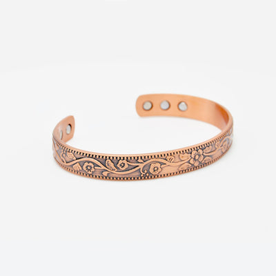 ladies magnetic copper bangle