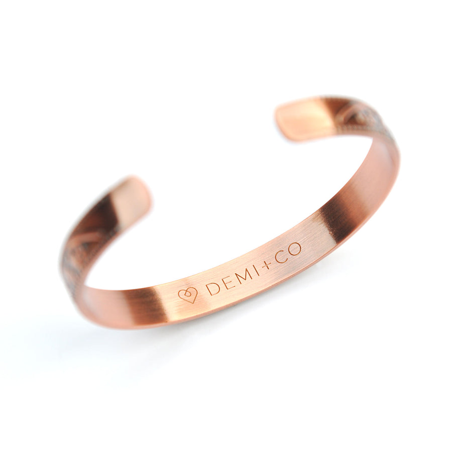 Flora copper magnetic bracelet