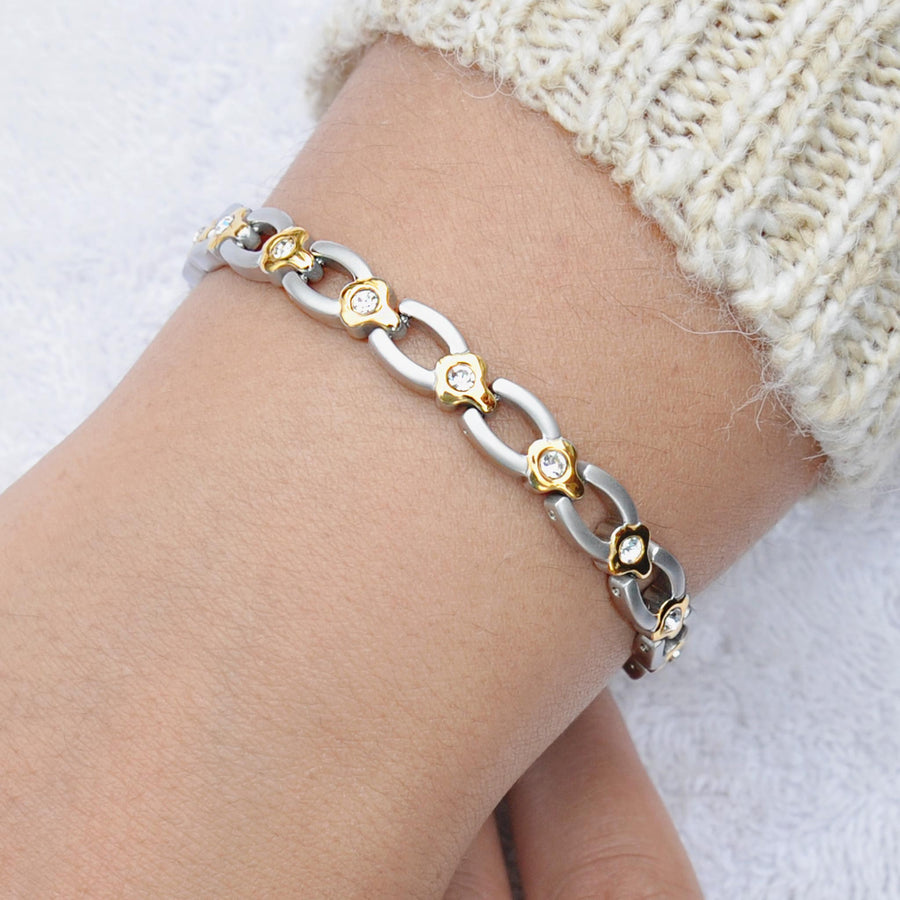 silver magnetic bracelet for women