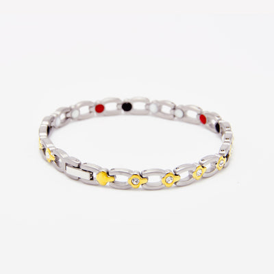 silver and gold magnetic bracelet for women