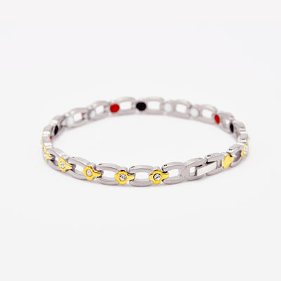 silver magnetic bracelet for ladies