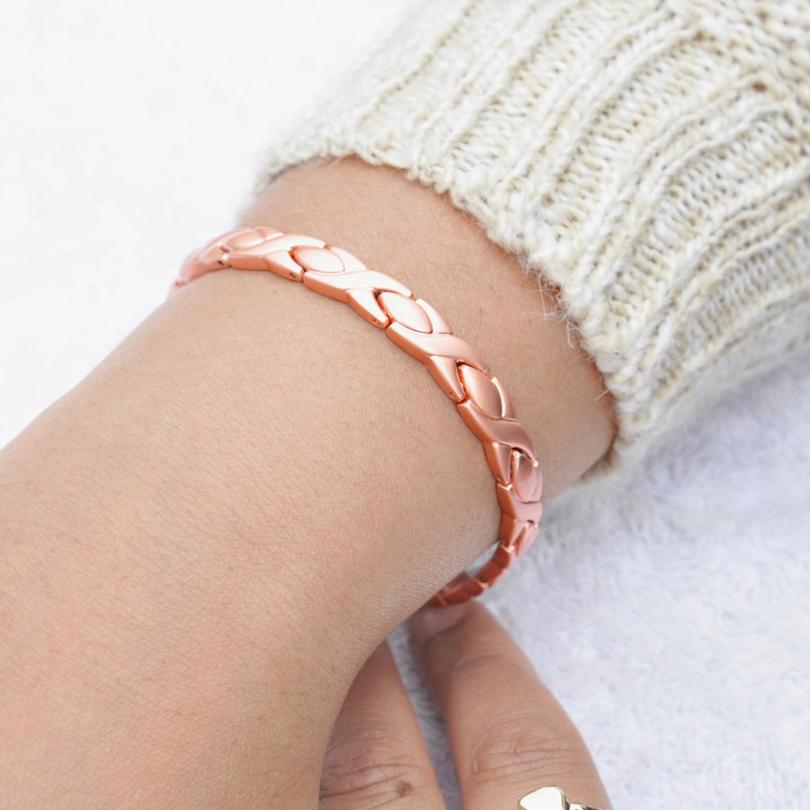 Celeste matt copper bracelet