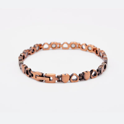 ladies heart copper bracelet