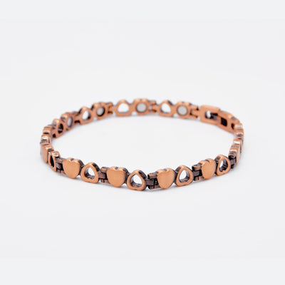 womens heart copper bracelet
