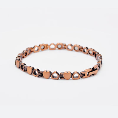 heart copper bracelet with magnets