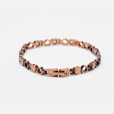 heart copper bracelet
