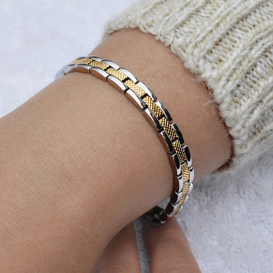 Heaven silver and gold magnetic bracelet