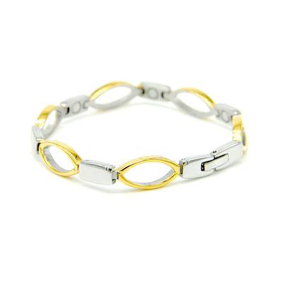 gold and silver magnetic bracelet