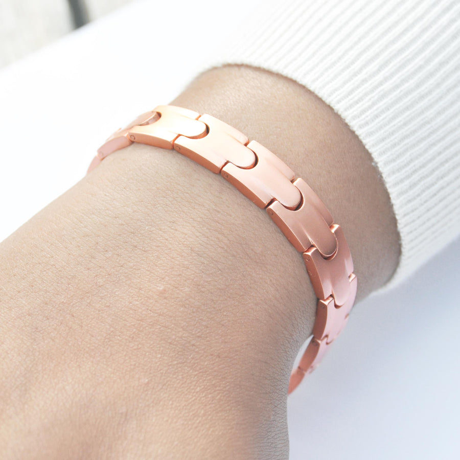 Arielle matt copper bracelet