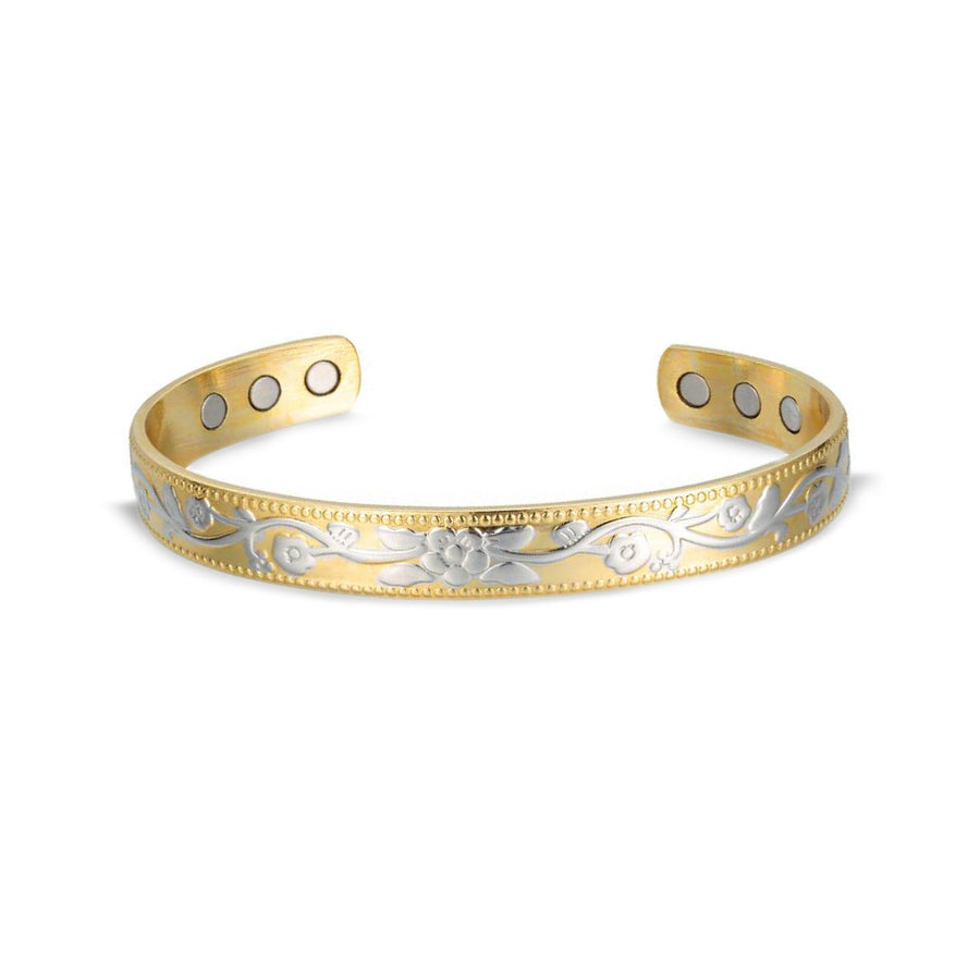ladies gold silver magnetic bangle