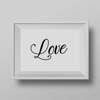 love poster quote art prints